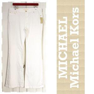 MICHAEL Kors tall 14 white jeans flare bell bottom